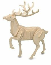 Stag: Woodcraft Quay Construction Wooden Deer 3D Model Kit M031 Age 7 plus