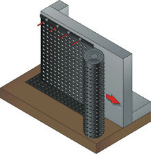(2,66€/m²) GEO-PAKET: Noppenbahn 1m x 20lfm + 20x Abdeckprofil + 100x Nägel