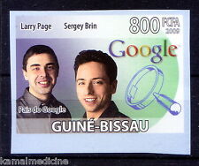 Guine Bi. MNH Imperf, Larry Page USA Sergey Brin Russia founder of Googl  - In11