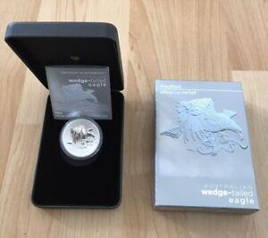 Australia Wedge Tailed Eagle 2021 UHR Piedfort 2 oz Silver Reverse Proof BOX COA
