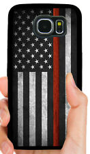 FIREFIGHTER RED LINE FLAG PHONE CASE FOR SAMSUNG NOTE GALAXY S5 S6 S7 S8 S9 S10E