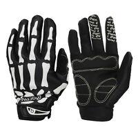 Biker Cycling Skeleton Bone Gloves Full Finger Sport Race Motorcycle Goth Unisex