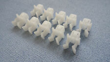 SKODA WHITE HOOD RETAINER BONNET ROD STAY GRIPPER HOOK ARM CLIPS 10PCS
