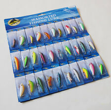 30PCS Fishing Lure Lures Floating Minnow artificial bait hook 8.5cm/12.7g