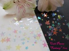 Nail Art Translucent Clear *Xmas Fantasy Star* Small Mix Pack Spangle Glitter P6