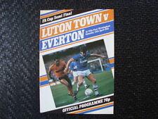 Everton Football FA Cup Fixture Programmes (1980s)