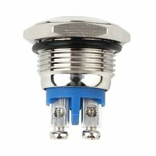 16MM 250V 3A Non latching Stainless Steel Metal Push Button Switch Nomal Open