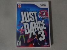 EUC Just Dance 3 Original Nintendo Wii Video Game Complete Free Ship