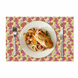 """Dining Table Mats Of 6 Pack - Stitched Placemats - 18x12"""" - Easy Care Washable"""
