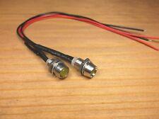 2 BBT 12 volt Amber LED Indicator Lights in Chrome Bezels