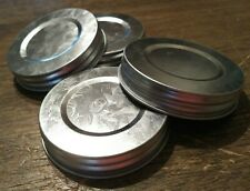 Farmhouse Mason Jar LID Reproduction Galvanized Jar Lid-Standard Mouth set of 30