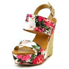 Medium (B, M) Wedge Floral Sandals & Flip Flops for Women