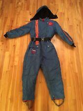 Vintage Snowmobile Suit One Piece Snowsuit with POLARIS Patches - Unisex