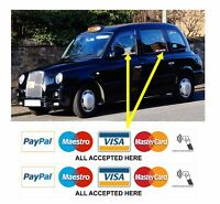 4 x VISA MAESTRO MASTERCARD CONTACTLESS ACCEPTED STICKERS FOR SHOP TAXI EPOS etc
