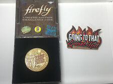 Qmx Serenity / Firefly Keep Flying Coin 2016 Sdcc Exclusive + Special Hell Pin