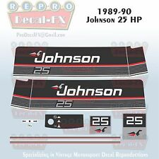 1989-90 Johnson 25 HP Sea-Horse Outboard Reproduction 11 Pc Marine Vinyl Decals
