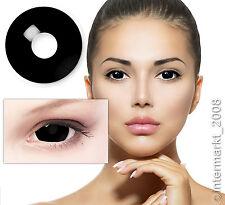 Farbige Crazy&Fun Kontaktlinsen Black Schwarze Mini Sclera lenses 17mm +Behälter