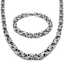 BIZANTINO 75cm φ5mm COLLAR + Pulsera Cadena Collar acero inoxidable plata