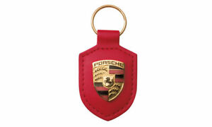 Genuine Porsche Keyring - RED -    MADE IN GERMANY