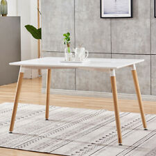 Modern Simple Style Table Wooden Leg Kitchen Living Dining Room Furniture White