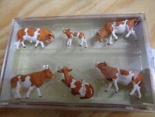 H0 Preiser 10155 Kühe, braun. Figuren. OVP
