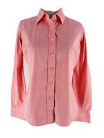 Vineyard Vines Women's Pink & White Striped Button Front Shirt Blouse Size 2