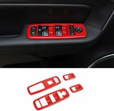 Car Window Lift Trim Switch Panel Accessories Trim for Dodge Charger 2011-20 Red