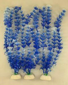"(3 Pack) 16"" Artificial Plastic Decoration Aquarium Plants - Individually Packed"