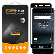 [2-Pack] Supershieldz Nokia 6 Full Cover Tempered Glass Screen Protector (Black)