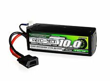 Turnigy Nano-Tech 10000mAh 2S 7.4V 30C 60C Lipo Battery Pack with Flat Connector