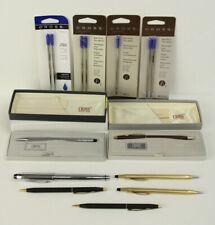 Lot of 7 Vintage Cross Pens & Mechanical Pencil Some NOS w/Refills