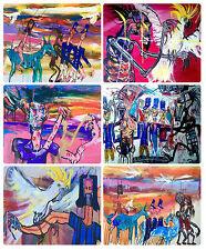 6 x COASTERS - AUSTRALIAN MADE - COLONIAL/NED KELLY/CONVICTS/HORSES/COCKATOO