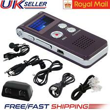 New 8GB Rechargeable Digital Sound Voice Recorder Steel Dictaphone MP3 Player UK