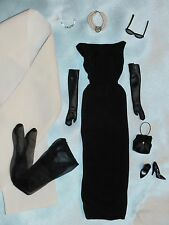 Audrey Hepburn Tiffany's Black Gown & All Accessories ~Unboxed~ Free U.S Ship