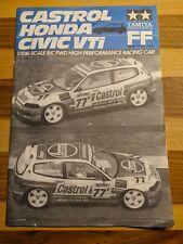 TAMIYA CASTROL HONDA CIVIC VTI 58127 BAUANLEITUNG | MANUAL | 1993