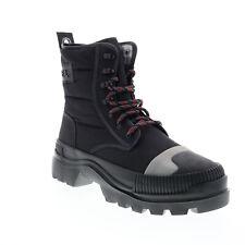 Diesel D-Vaiont Dbb Y01863-P2063-T8013 Mens Black Canvas Casual Dress Boots