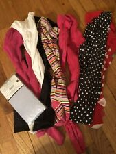 Lot Of Girls Tights 8 Pair Mixed Sizes 4-10 Great Bargain
