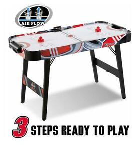 MD Sports Easy Assembly 48 Inch Air Powered Hockey Table, Space-Saving Design