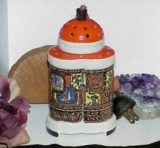Antique Germany Erka Rauchverzeher Asian Temple Perfume Scent Lamp Silk Cord Vtg