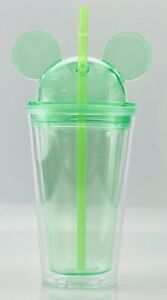 Mickey Mouse 15oz Double Wall Drink Tumbler.   Super Cute! GREEN 💚💚💚