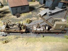 HO Roco Minitanks Patton's 3rd Army Construction Railway Cars #A964 Hand Painted