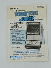 Donkey Kong Junior Nintendo Coleco Handheld Arcade Instruction Manual