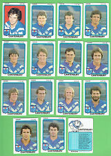 1981  CANTERBURY  BULLDOGS  SCANLENS RUGBY LEAGUE CARDS