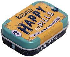 Geprägte Nostalgie Pillendose + Pfefferminzdragees HAPPY PILLS DOPI23