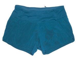 "LULULEMON Athletic 4"" RUN SPEED Shorts DARK BLUE Vented Running Yoga Sz 4"