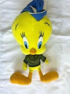 "Looney Tunes Tweety Bird 17"" Plush Toy Nanco air force 2001"