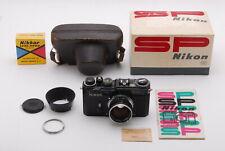 Nikon SP ORIGINAL BLACK 35mm Film Camera Body Nikkor S 50mm F1.4 #691