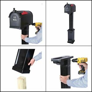 Postal Pro Craftsman Mailbox and Post Kit, Black