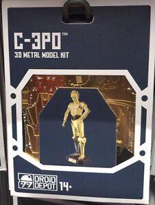 Disney Parks Star Wars C-3PO Droid Factory Metal Model Kit 3D Galaxy Edge New
