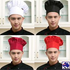 Chef Hat Baker Kitchen Cook Restaurants Catering Cap Men Women Black Red CTSK706